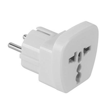 Adaptor stecher universal alb cu CP  ITL / EL-0100A
