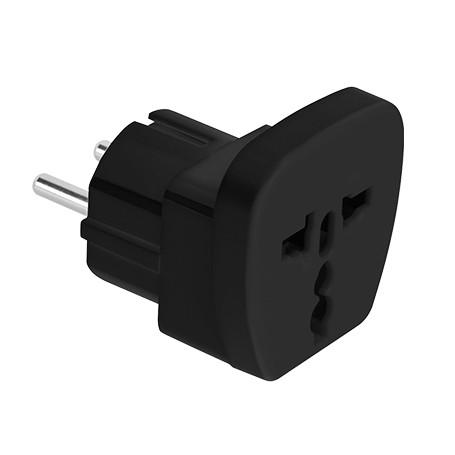 Adaptor stecher universal negru cu CP ITL / EL-0100B