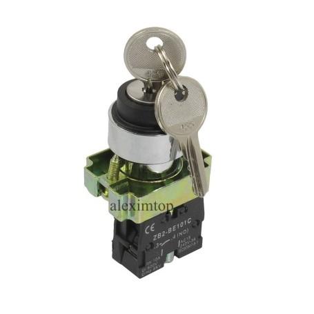 Buton motor cu cheie ON/OF/ON ,ZB2-BG25C