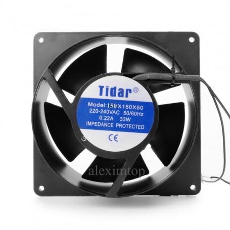 ventilator patrat/rotund 220V-150x150x50mm