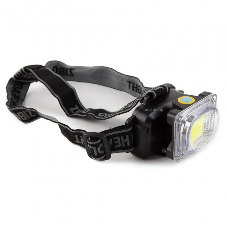 Lanterna de cap lumina alb/rosie 1led COB 5W / ZB-6658