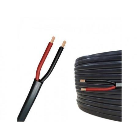 Cablu Electric Plat Negru 2x0,5mm (MYYUP). 100m/rola