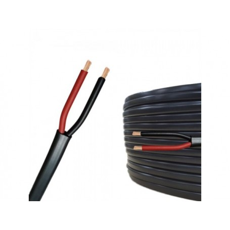 Cablu Electric Plat Negru 2x1,5mm (MYYUP). 100m/rola