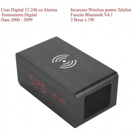 Ceas cu Led , Incarcare Wireless si Bluetooth V4.1