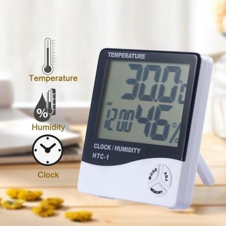 Termometru Digital cu Ceas si Higrometru