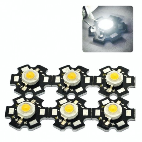 Led SMD 3W cu Radiator ,Lumina Alb-Rece 6500K