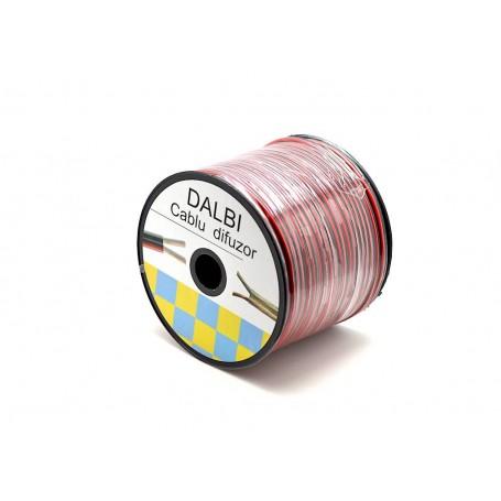 LSP-110/BR cablu difuzor bifilar rosu-negru 2 x 0,35 100m/rol