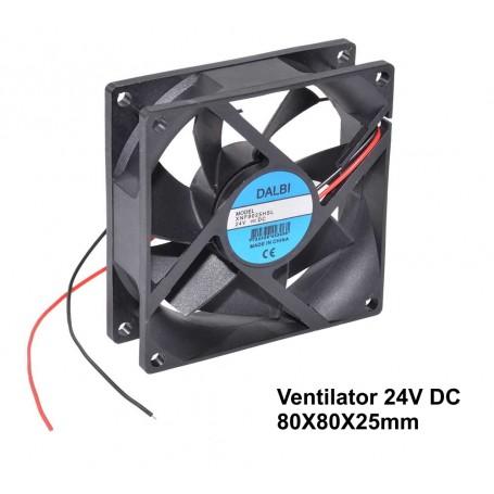 Ventilator 24V - 80x80x25 mm