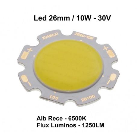 Led Cob 26mm , Putere 10W