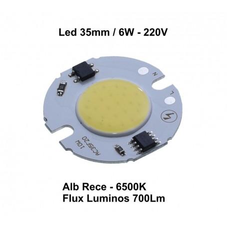 Led Cob 35mm , Putere 6W - 220V