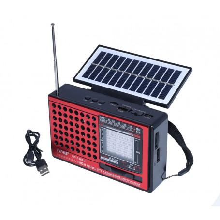 Radio cu Lanterna , Usb , Card și Încărcare Solară 1588U